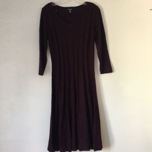 Nine West Maroon Knitted Dress